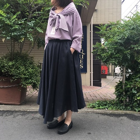 D-due Sketch linen skirt